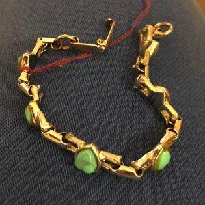 Lucite turquoise vintage hearts sm girls bracelet